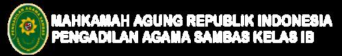 Website Resmi Pengadilan Agama Sambas Kelas IB