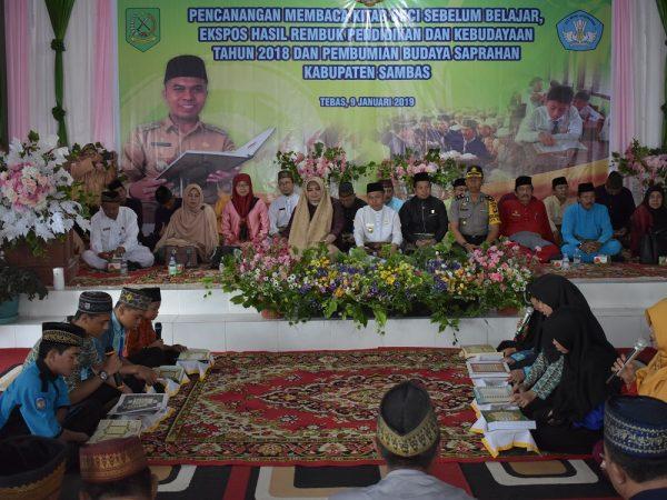 Wakil Ketua PA Sambas Hadiri Launching Baca Quran Sebelum Belajar