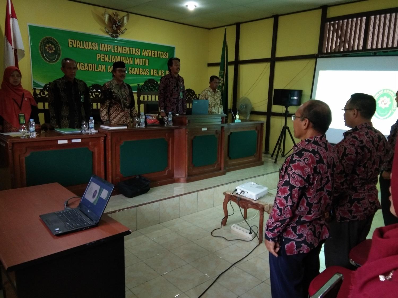 Evaluasi dan Monitoring Implementasi APM PA Sambas Tahun 2019