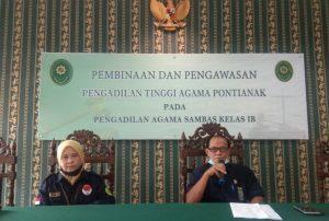 KPTA Pontianak Lakukan Pembinaan dan Pengawasan di PA Sambas