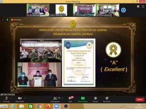 Rakor Ditjen Badilag; PA Sambas Terima Penghargaan APM