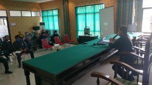 Ketua PA Sambas Pimpin Rapat Monev Bulan September